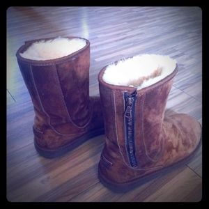 Brand New Ugg boots with side zipper